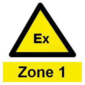 Zone 1 hazardous area icon