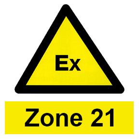 Zone 21 hazardous area icon