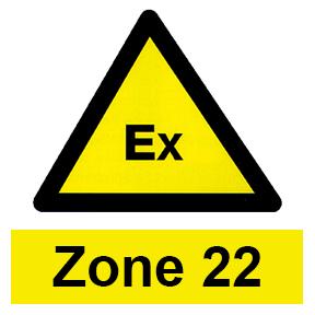 Zone 22 hazardous area icon