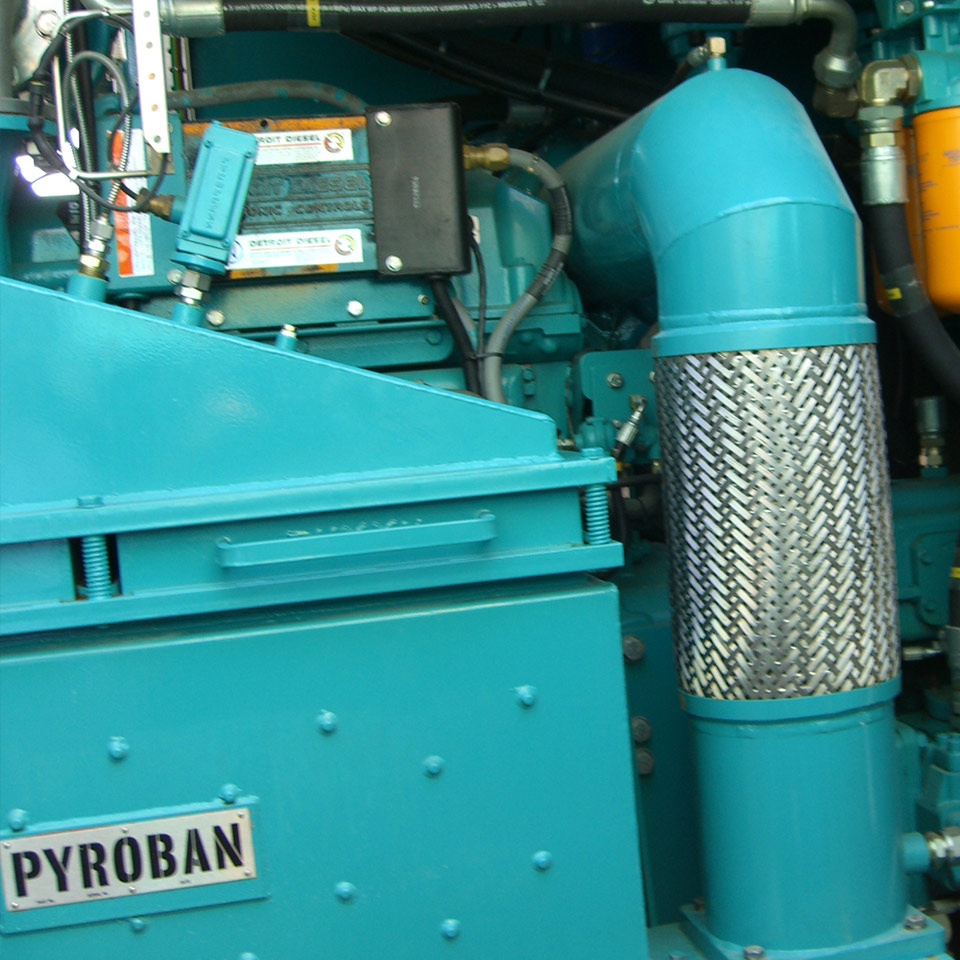 DDC diesel engine with Explosion protection Pyroban kit in Zone 2 offshore