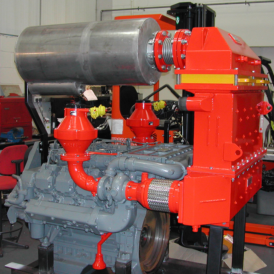 Deutz diesel engine with Explosion protection Pyroban kits for use in Zone 2 hazardous area