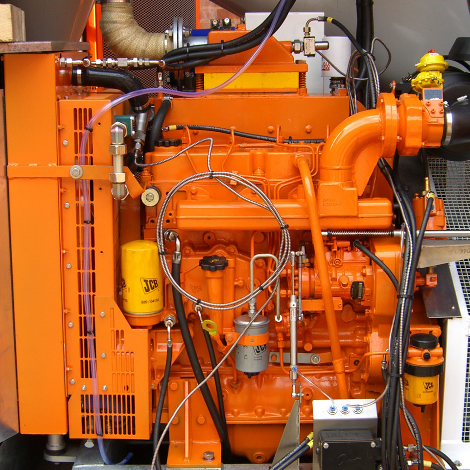 Explosion protection Pyroban kits for JCB diesel engines in Zone 2 hazardous areas