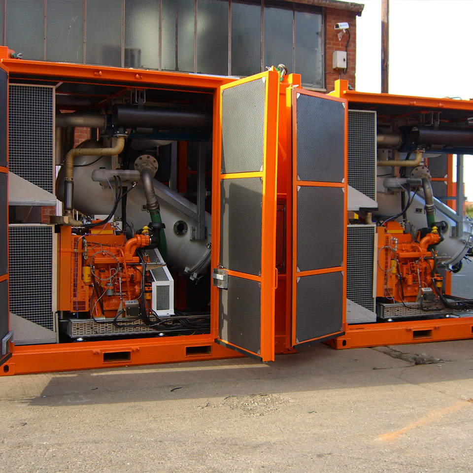 Explosion protection Pyroban kits for JCB diesel engines in Zone 2 offshore