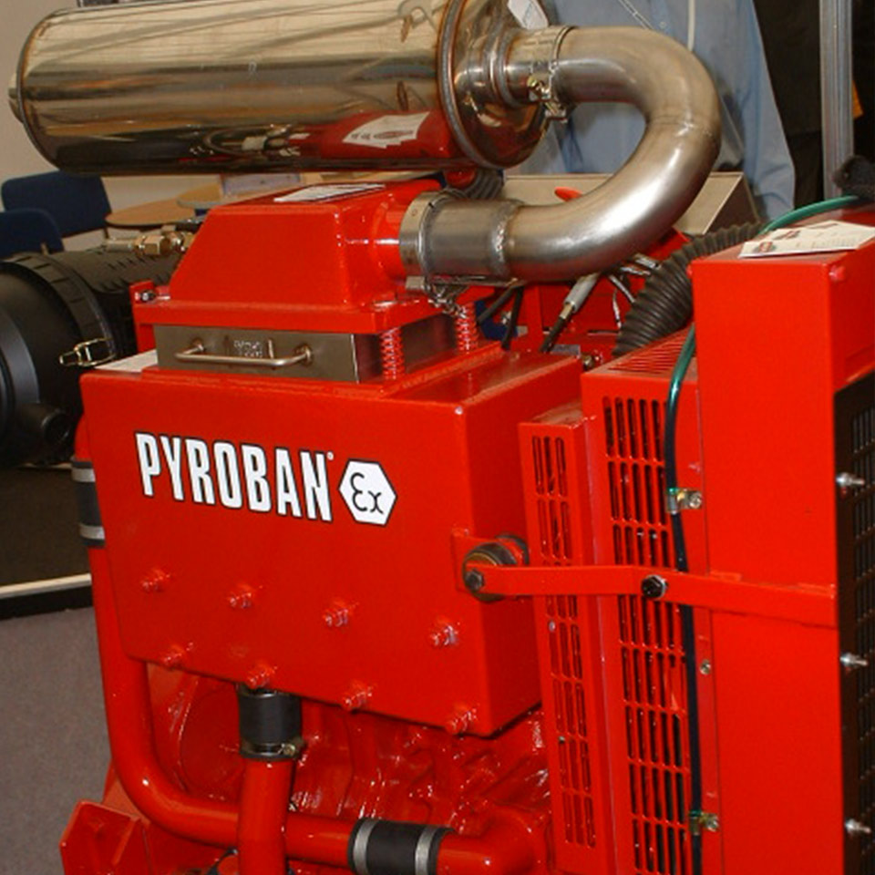 Explosion protection Pyroban kits for JCB diesel engines in Zone 2