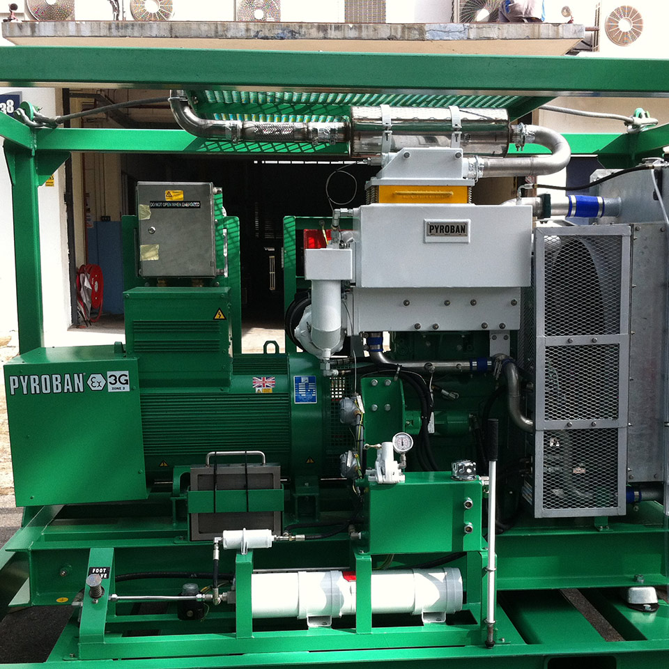 Explosion protection Pyroban kits for Perkins diesel engines in Zone 2 offshore