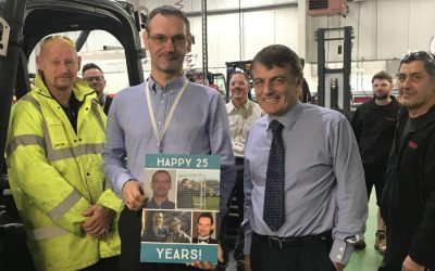 Steve Noakes celebrates 25 years at Pyroban