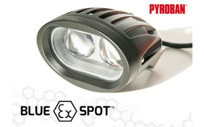 Pyroban launches Blue EX Spot for ATEX forklift trucks