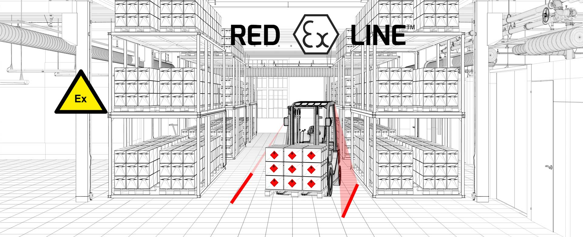 Red Ex Line - red perimeter warning light