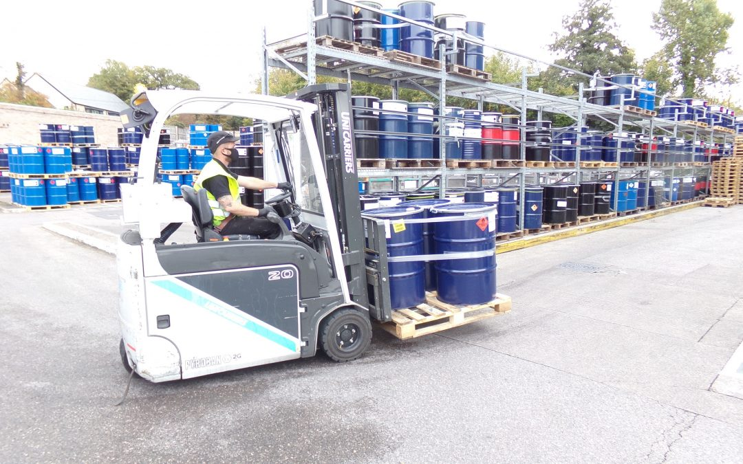 ATEX forklift fleet for Sun Chemical