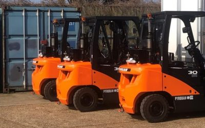 Three explosion proof Doosan lift trucks for energy sector
